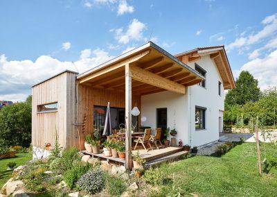 Teredo Vollholzhaus mit Terrasse