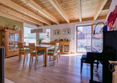Wohnzimmer Sichtholz Decke