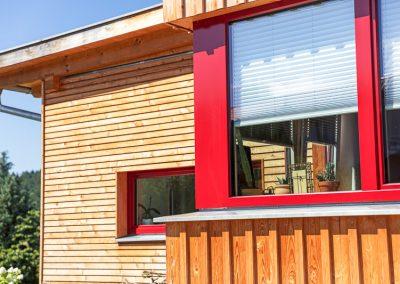 Teredo Vollholzhaus Eckfenster Holz Alu
