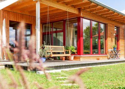 Teredo Vollholzhaus Terrasse Fensterelement