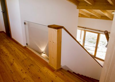 Massivholz Treppenaufgang