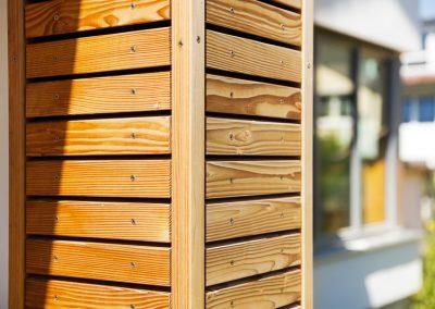 Eckelement Holzbeplankung