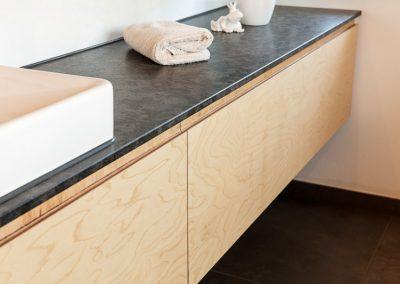 Badezimmer Möbel Massivholz Granit